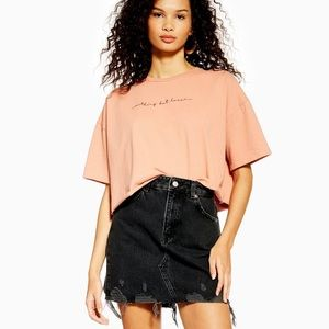TOPSHOP RIPPED DENIM SKIRT 🛍IN STORES🛍